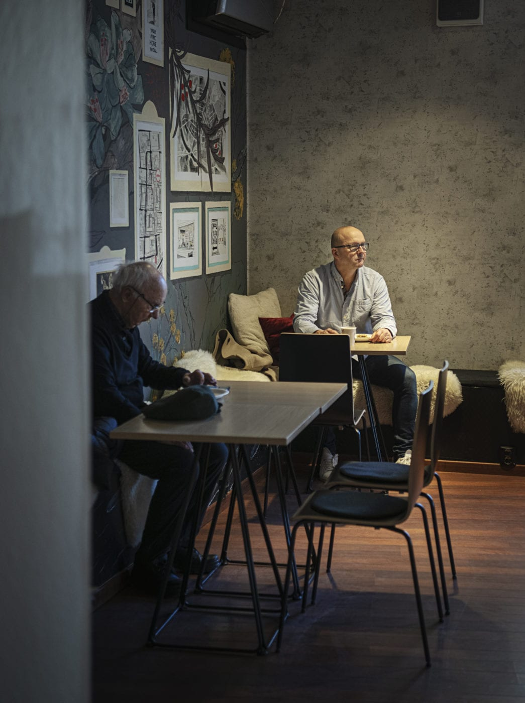 Roll on Wall hos La Luna Kaffebar